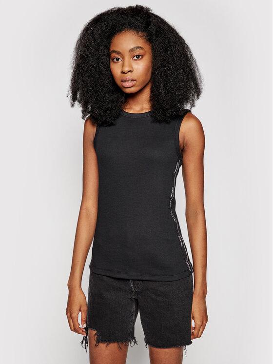 Calvin Klein Calvin Klein Bluzka Rib Vest K20K202608 Czarny Slim Fit