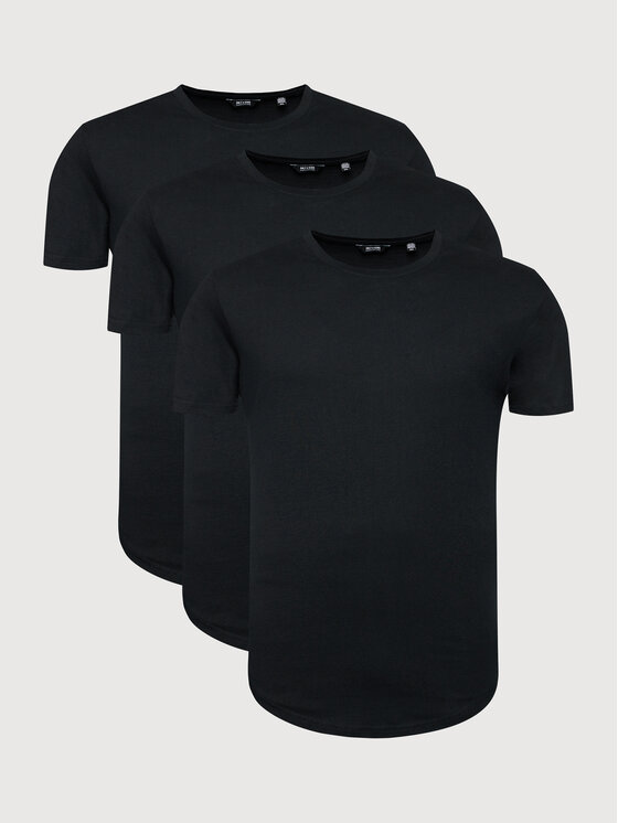 Only & Sons 3 marškinėlių komplektas Matt 22013782 Juoda Regular Fit