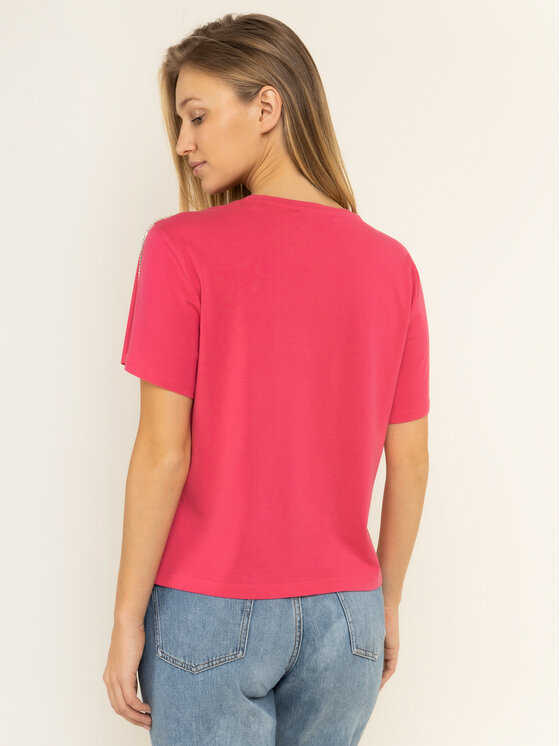 Guess Guess T-Shirt W01I95 JA900 Różowy Relaxed Fit