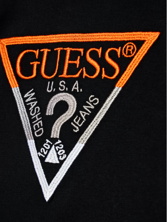 Guess Guess T-Shirt H1RT06 K8HM0 Czarny Regular Fit
