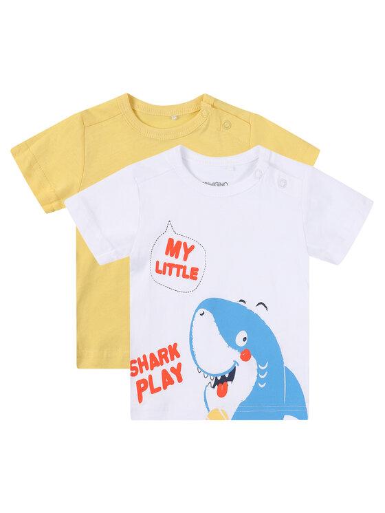 Primigi 2 marškinėlių komplektas East Wear Boy 45226001 Geltona Regular Fit