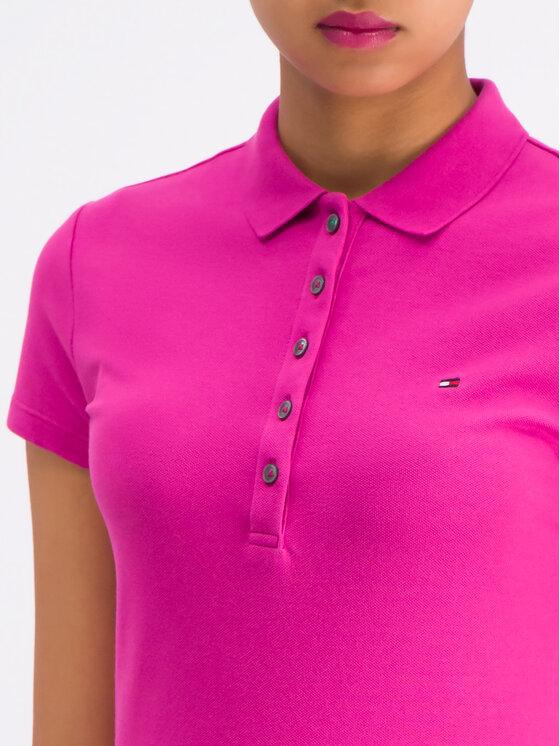 TOMMY HILFIGER TOMMY HILFIGER Polo marškinėliai Chaira Str WW0WW23706 Violetinė Slim Fit