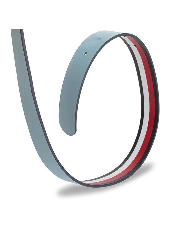 Tommy Hilfiger Tommy Hilfiger Dámsky opasok New Fancy Reversible Belt 3.0 AW0AW06554 Modrá