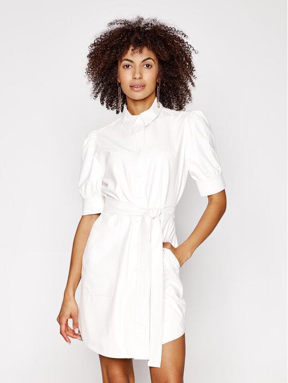 TwinSet Sukienka skórzana 211TT2020 Biały Slim Fit