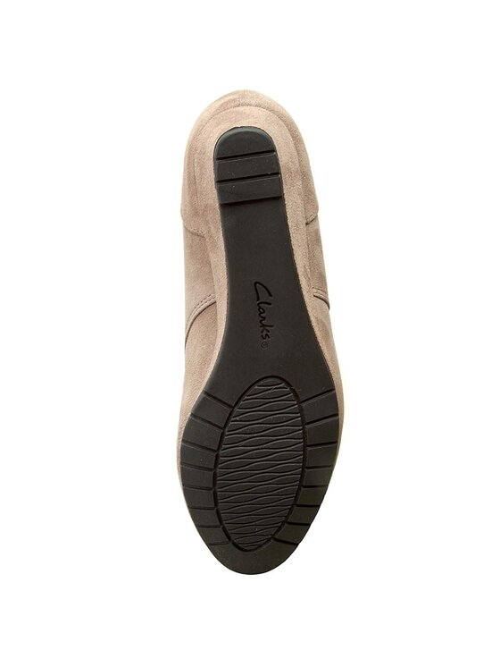Clarks Clarks Členková obuv Vendra Peak 261218274 Béžová