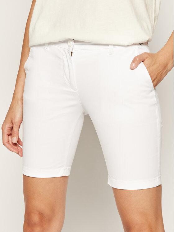 Napapijri Napapijri Pantalon scurți din material Noridian 1 N0YHH9 Alb Slim Fit