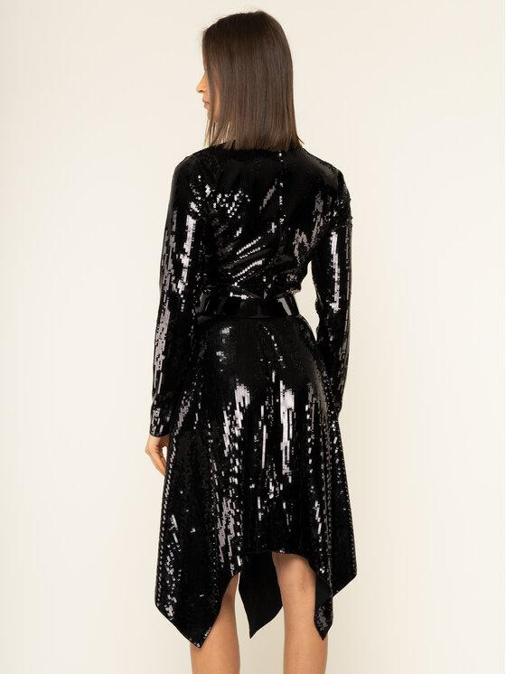 MICHAEL Michael Kors MICHAEL Michael Kors Koktejlové šaty Sequined Handkerchief MF98Z615DZ Černá Regular Fit