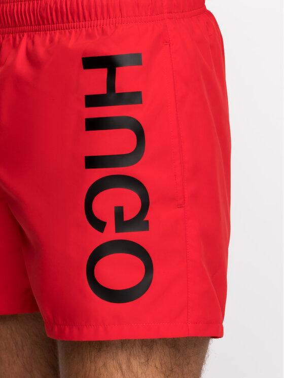 Hugo Hugo Short de bain 50409687 Rouge Regular Fit