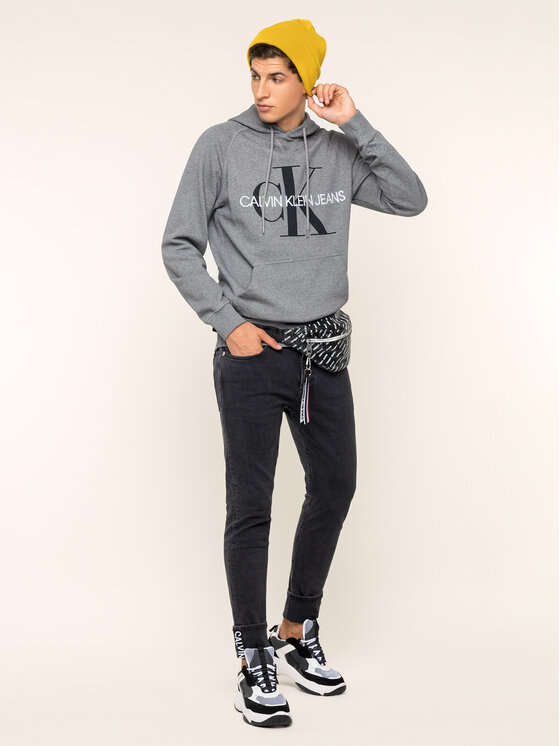 Calvin Klein Jeans Calvin Klein Jeans Felpa Monogram J30J313219 Grigio Regular Fit