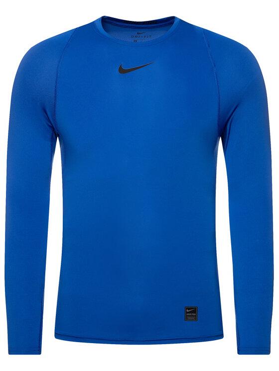 Nike Nike Techniniai marškinėliai Pro 838077 Tamsiai mėlyna Tight Fit