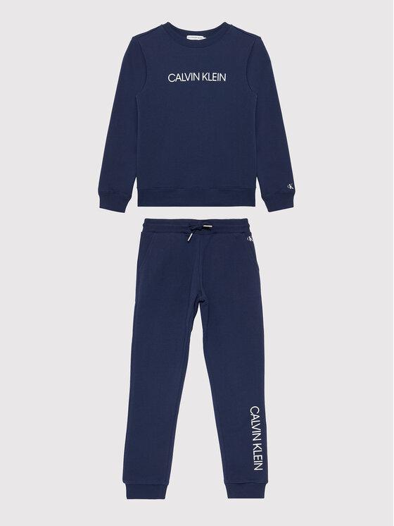 Calvin Klein Jeans Calvin Klein Jeans Dres Essential Hwk IB0IB00951 Granatowy Regular Fit