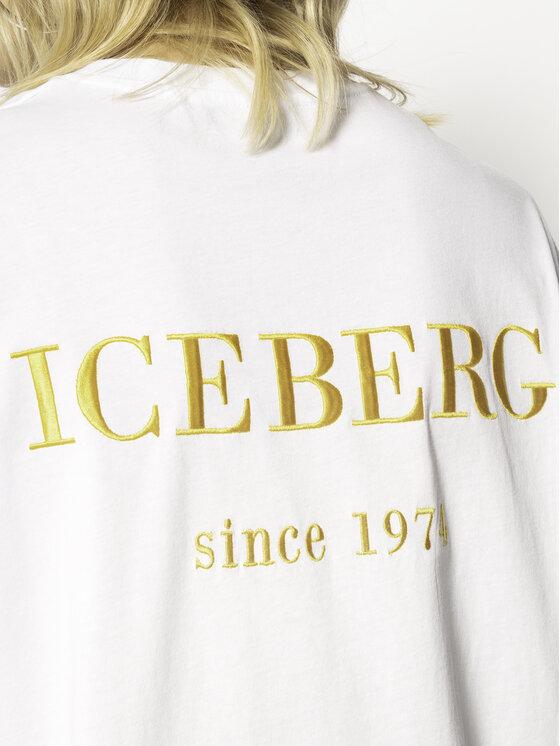 Iceberg Iceberg Тишърт 20EI2P0F06363011101 Бял Regular Fit