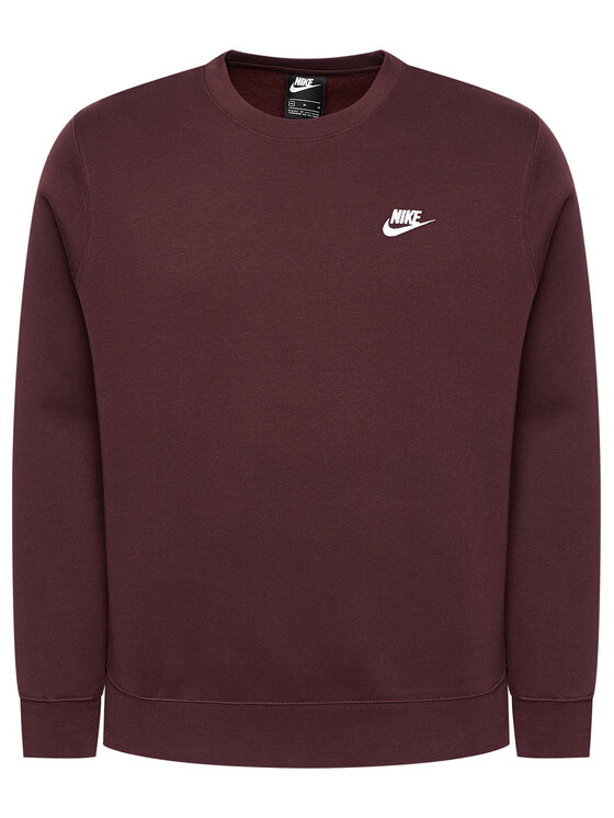 Nike Nike Bluza Nsw Club BV2662 Bordowy Standard Fit