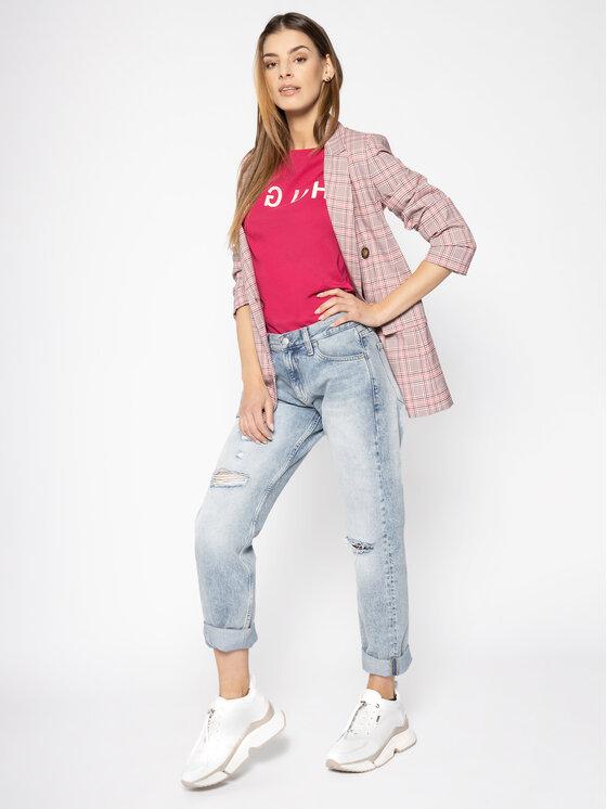 Hugo Hugo T-Shirt 50411036 Różowy Slim Fit