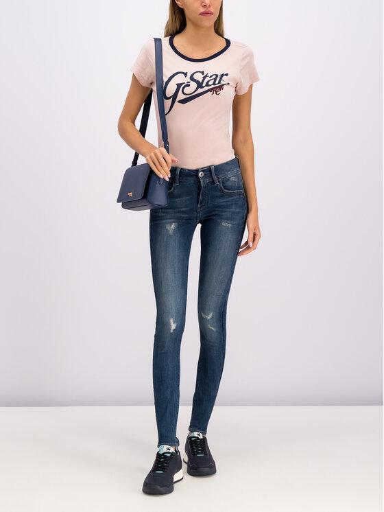 G-Star Raw G-Star Raw T-Shirt D14704-4107-7176 Różowy Slim Fit