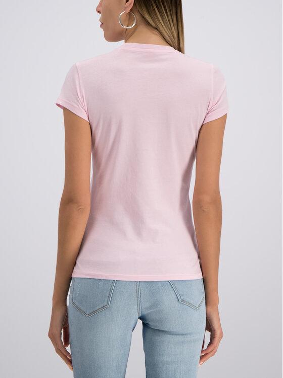 Guess Guess Marškinėliai W93I56 JA900 Rožinė Slim Fit