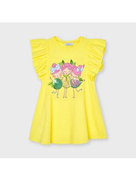 Mayoral Mayoral Ежедневна рокля 3953 Жълт Regular Fit