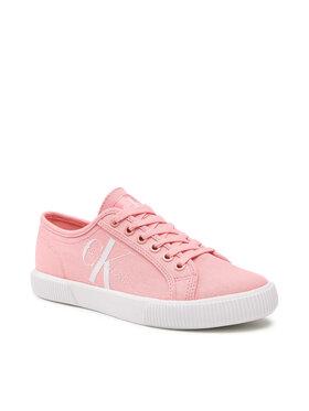Calvin Klein Jeans Calvin Klein Jeans Sneakers aus Stoff Vulcanized Sneaker Laceup Co YW0YW00402 Rosa