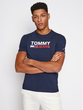 Tommy Jeans Tommy Jeans Marškinėliai Corp Tamsiai mėlyna Regular Fit