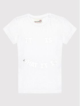 Coccodrillo Coccodrillo T-Shirt ZC1143228EVG Λευκό Regular Fit