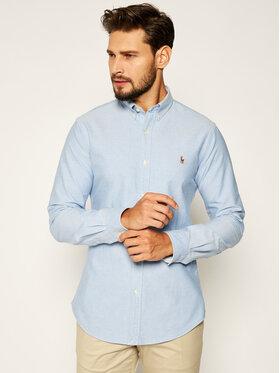 Polo Ralph Lauren Polo Ralph Lauren Marškiniai Classics 710767444001 Mėlyna Slim Fit