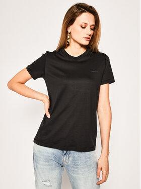 Calvin Klein Calvin Klein Tričko Ss Logo Tee K20K201723 Čierna Regular Fit