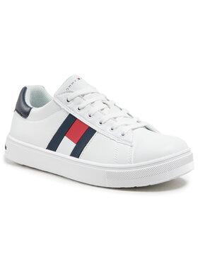 Tommy Hilfiger Tommy Hilfiger Сникърси Low Cut Lace Up Sneaker T3B4-30921-0900 S Бял