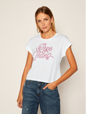 Pepe Jeans Pepe Jeans T-shirt Alberta PL504514 Beige Regular Fit