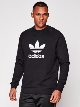 adidas adidas Bluză Trefoil Warm-Up CW1235 Negru Regular Fit