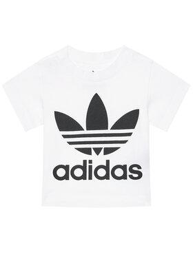 adidas adidas Marškinėliai Trefoil DV2828 Balta Regular Fit