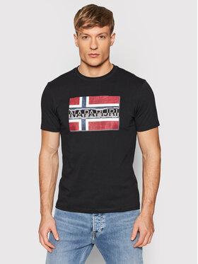Napapijri Napapijri T-Shirt Sench NP0A4FRR Μαύρο Regular Fit
