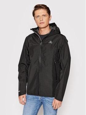 Salomon Salomon Nepremokavá bunda Outline LC1599500 Čierna Regular Fit