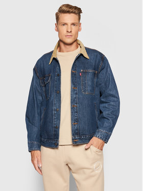 Levi's® Levi's® Jeansová bunda Sunset Trucker A0640-0002 Tmavomodrá Boxy Fit