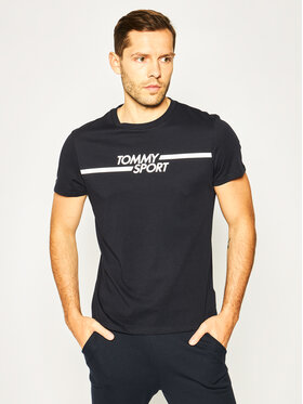 Tommy Sport Tommy Sport T-shirt Core Chest Graphic S20S200444 Blu scuro Regular Fit