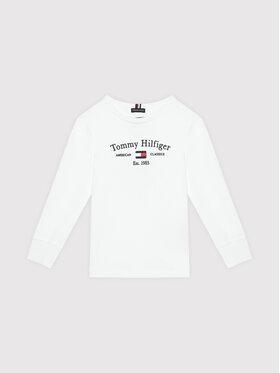 Tommy Hilfiger Tommy Hilfiger Bluză Artwork KB0KB06318 M Alb Regular Fit