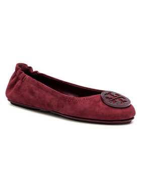 Tory Burch Tory Burch Ballerines Minnie Travel Ballet With Pave 79197 Bordeaux