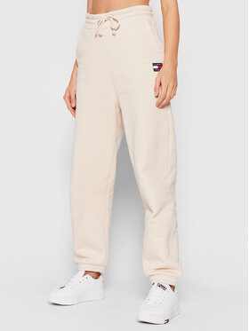 Tommy Jeans Tommy Jeans Jogginghose Tjw Hrs Badge DW0DW09740 Beige Relaxed Fit