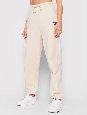 Tommy Jeans Tommy Jeans Sportinės kelnės Tjw Hrs Badge DW0DW09740 Smėlio Relaxed Fit