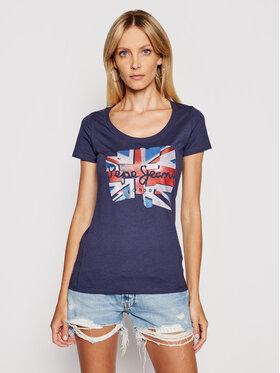 Pepe Jeans Pepe Jeans T-Shirt Blaze PL504819 Tmavomodrá Slim Fit
