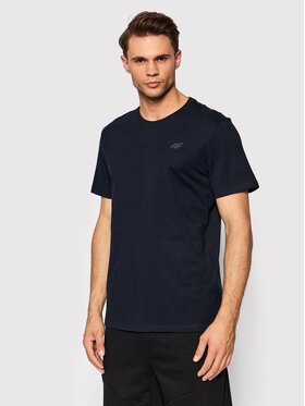 4F 4F T-Shirt NOSH4-TSM352 Granatowy Regular Fit