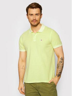 Tommy Jeans Tommy Jeans Тениска с яка и копчета Garment Dye DM0DM10586 Зелен Regular Fit