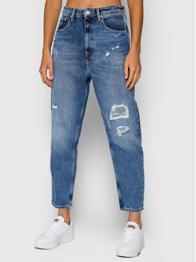 Tommy Jeans Tommy Jeans Jeansy DW0DW10863 Granatowy Mom Fit
