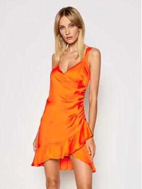 Guess Guess Koktejlové šaty Larissa W1GK0W WCUN0 Oranžová Slim Fit