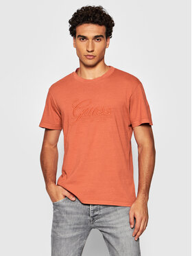 Guess Guess T-Shirt M1BI26 K8FQ1 Hnědá Regular Fit