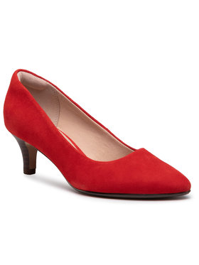 Clarks Clarks Chaussures basses Linvale Jerica 261467874 Rouge