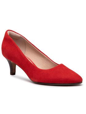 Clarks Clarks Pantofi Linvale Jerica 261467874 Roșu