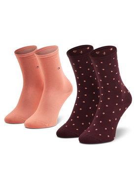Tommy Hilfiger Tommy Hilfiger Sada 2 párů dámských vysokých ponožek 100001493 Růžová