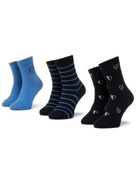 Mayoral Mayoral Σετ ψηλές κάλτσες παιδικές 3 τεμαχίων 10782 Σκούρο μπλε