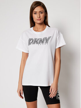 DKNY Sport DKNY Sport T-Shirt DP0T7477 Bílá Relaxed Fit