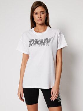 DKNY Sport DKNY Sport Tričko DP0T7477 Biela Relaxed Fit